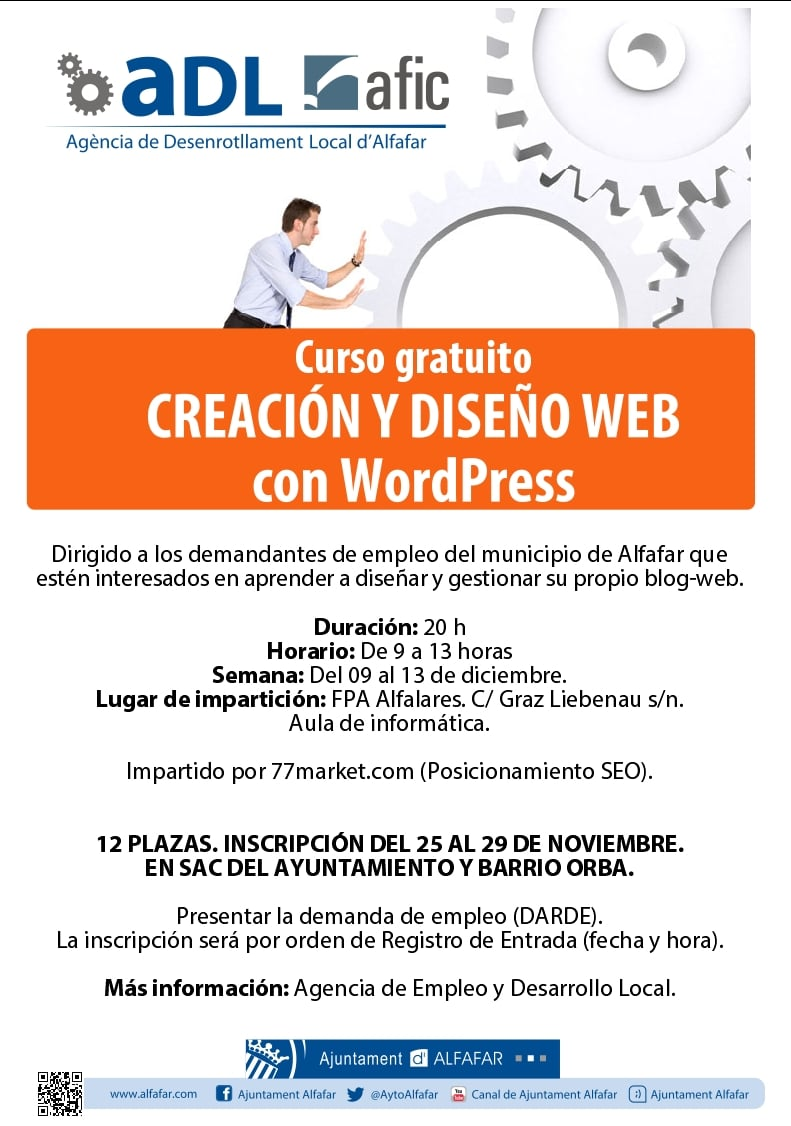 Curso WordPress Alfafar